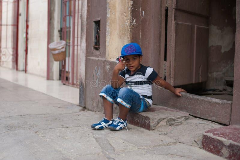 Маленький кубинський мальчик стоковые изображения rf