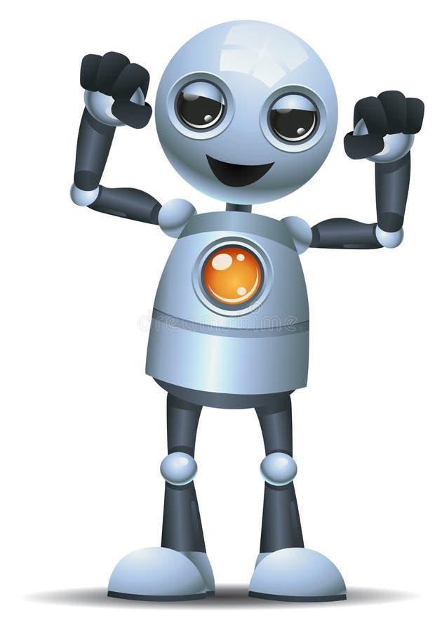маленький построитель тела робота иллюстрация штока