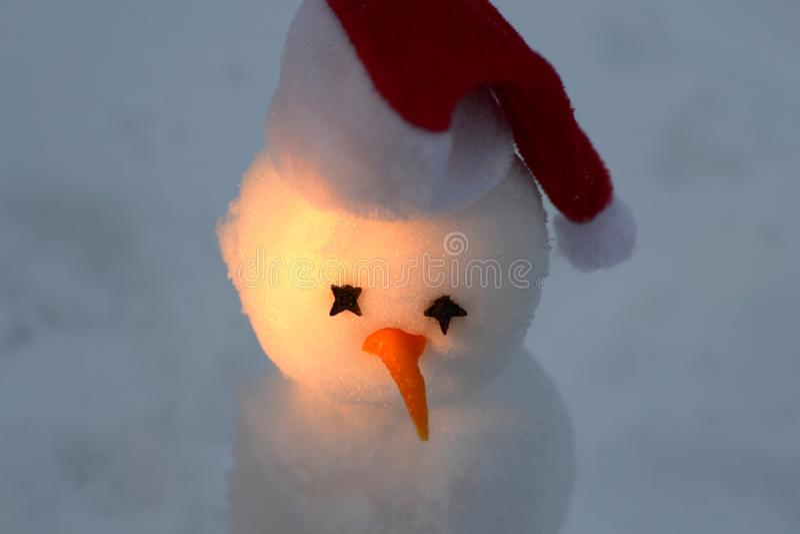 Маленький снеговик стоковое фото rf