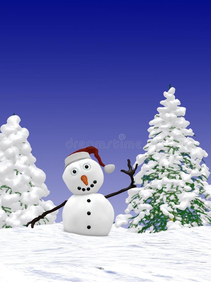 маленький снеговик иллюстрация штока
