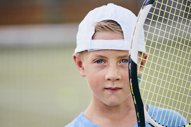 маленький теннис игрока стоковая фотография