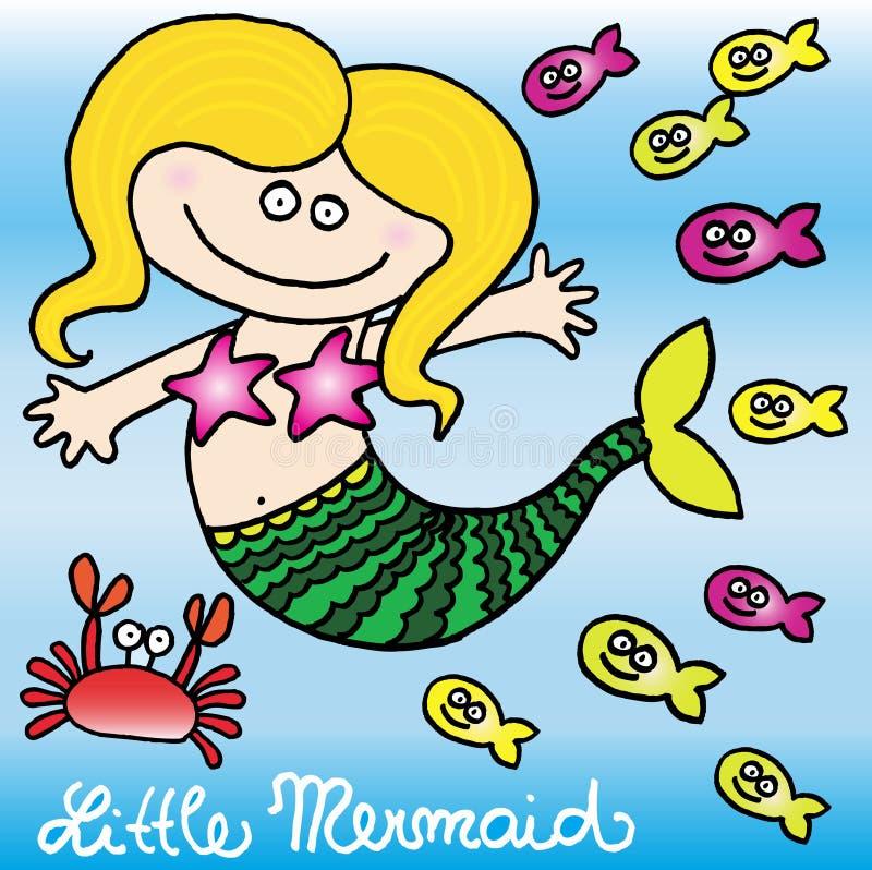маленький mermaid иллюстрация штока