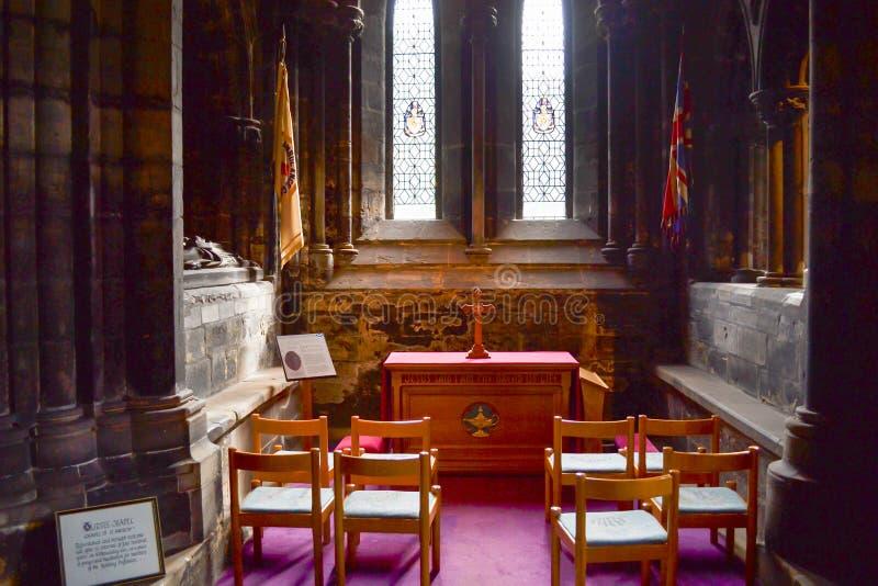 Малое ораторство внутри собора Глазго или высокой кирки g стоковая фотография rf