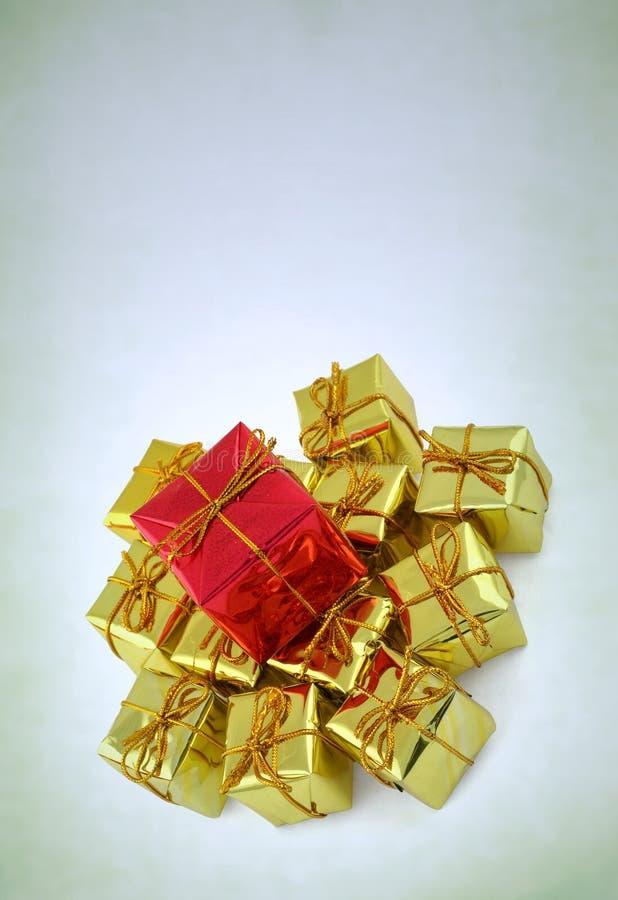 Малые глянцеватые коробки подарка Стоковое Изображение RF