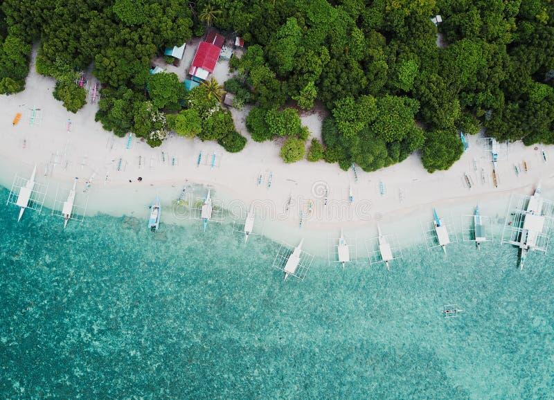 Малый остров в филиппинском стоковая фотография rf