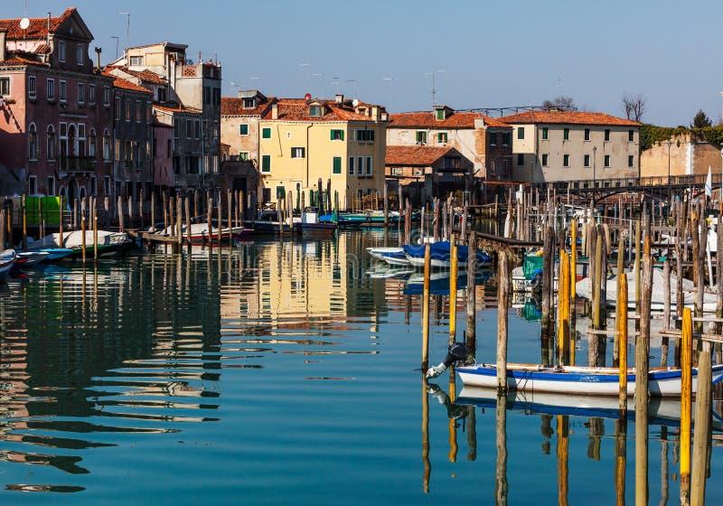 Малый порт в Венеции стоковое фото