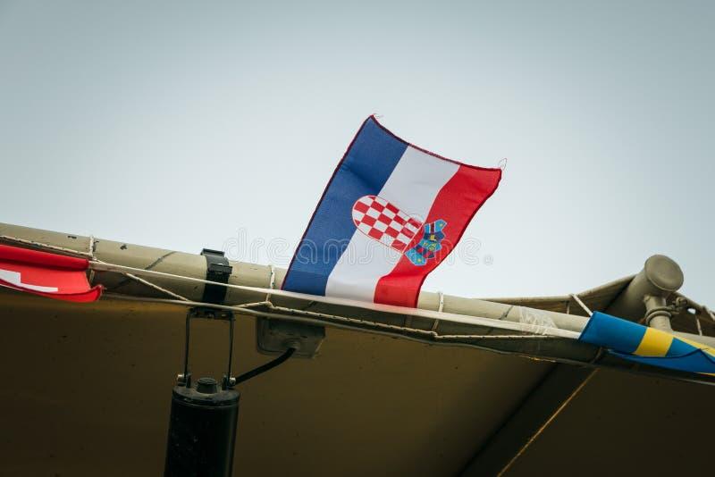 Малый хорватский флаг стоковое фото rf