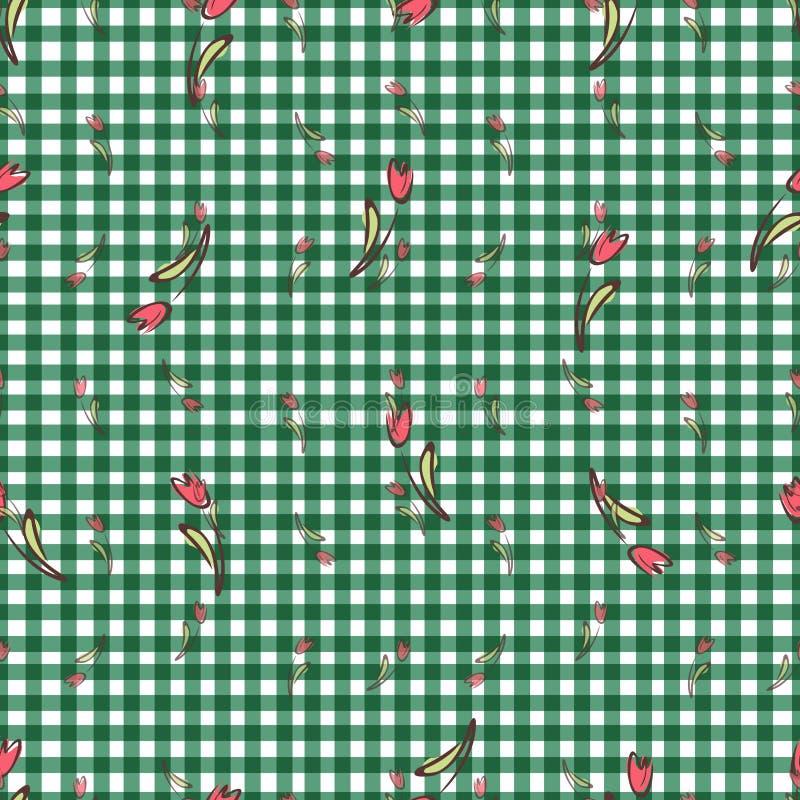 Малый цветочный узор безшовный внутри иллюстрация вектора