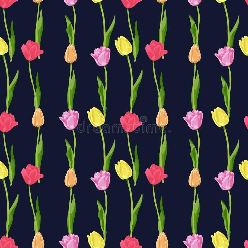 Малый цветочный узор безшовный внутри бесплатная иллюстрация
