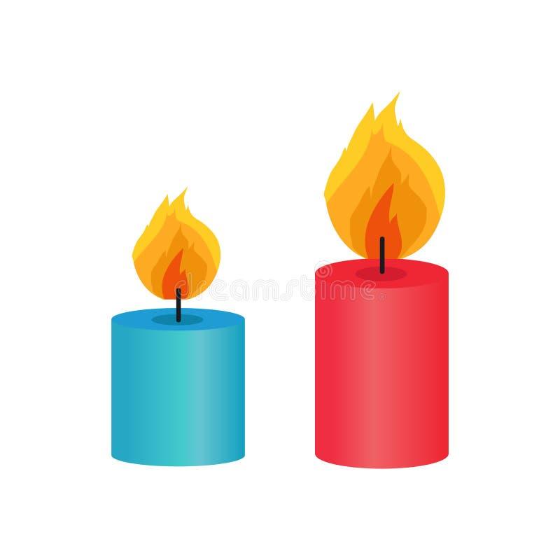 2 малых декоративных свечи, иллюстрация вектора иллюстрация штока