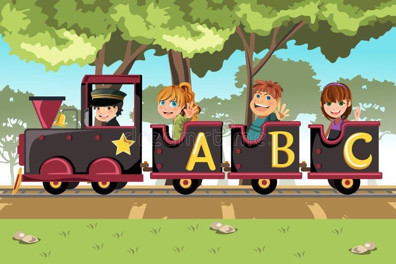 малыши алфавита поезд иллюстрация штока
