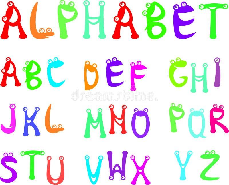 малыши алфавита смешные иллюстрация штока