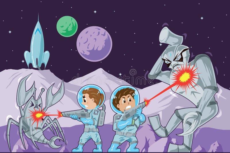 Малыши астронавта иллюстрация штока