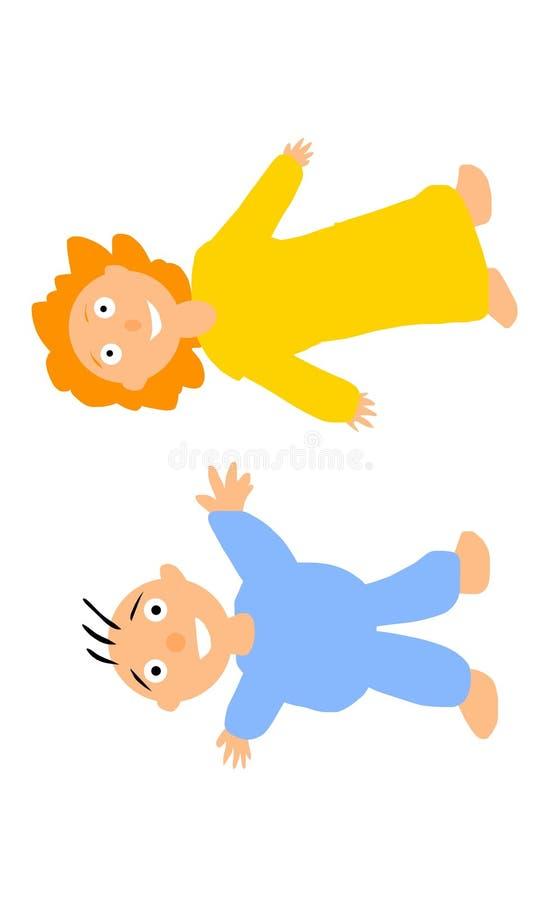 малыши иллюстраций девушки штольни мальчика немногая мое пожалуйста см стоковое изображение rf
