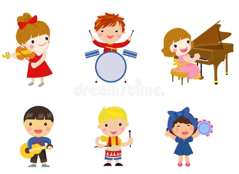Малыши и нот иллюстрация штока