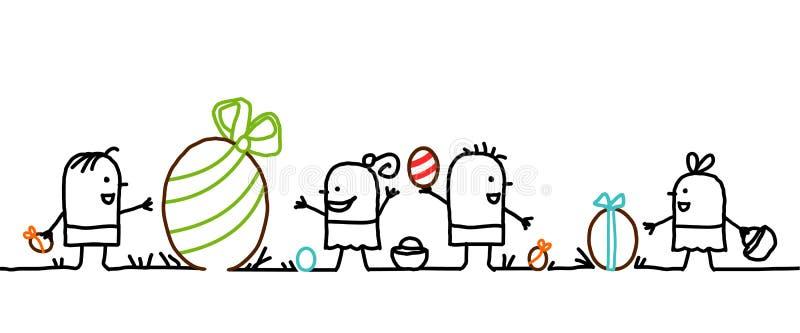 малыши пасхи бесплатная иллюстрация