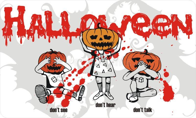 малыши halloween потехи бесплатная иллюстрация