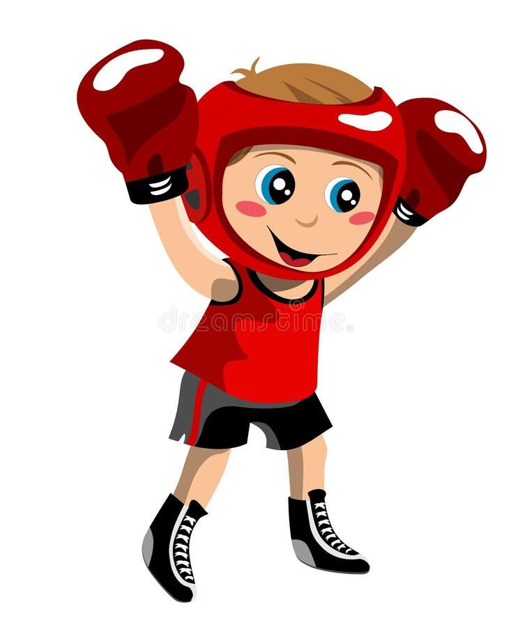 Малыш бокса иллюстрация штока