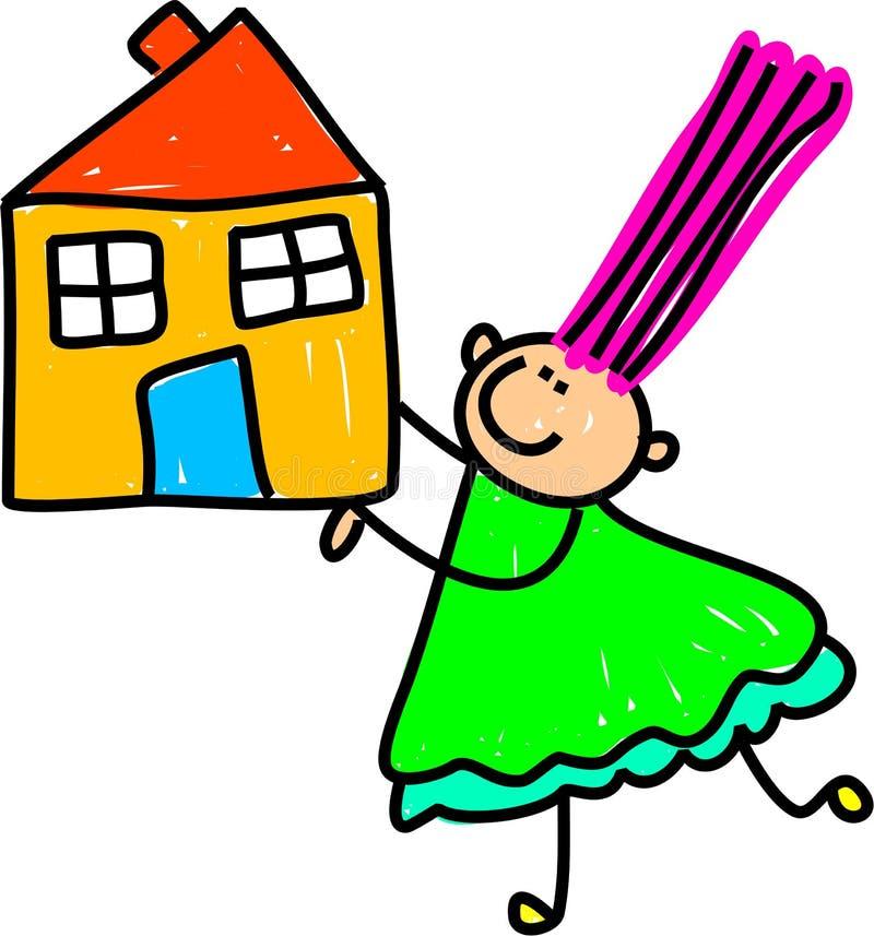 малыш дома иллюстрация вектора