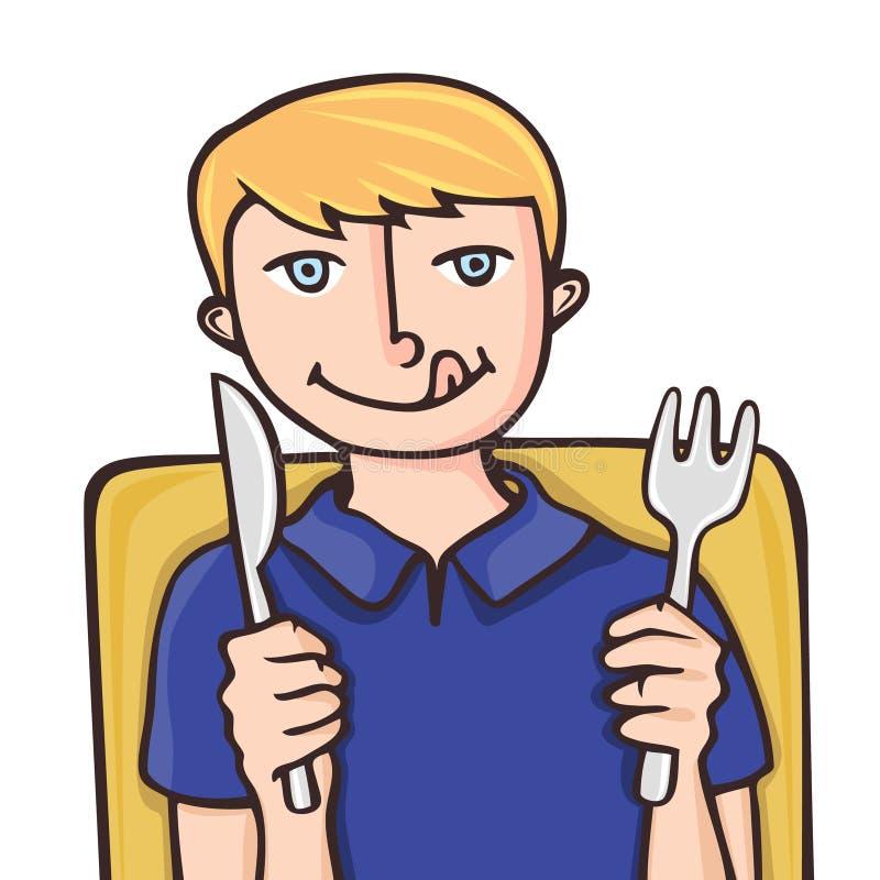 малыш еды принципиальной схемы иллюстрация вектора