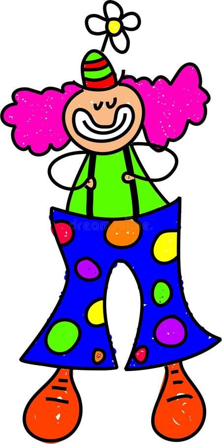 малыш клоуна иллюстрация вектора
