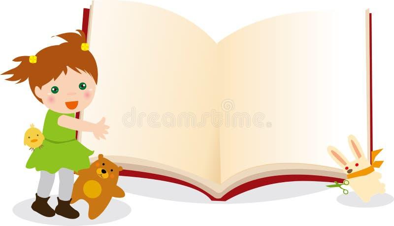 малыш книги животных иллюстрация вектора
