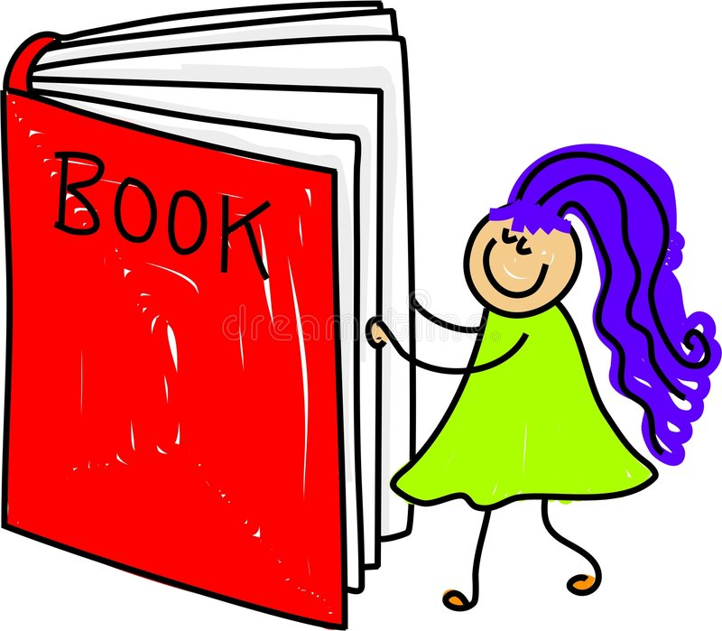 малыш книги иллюстрация штока