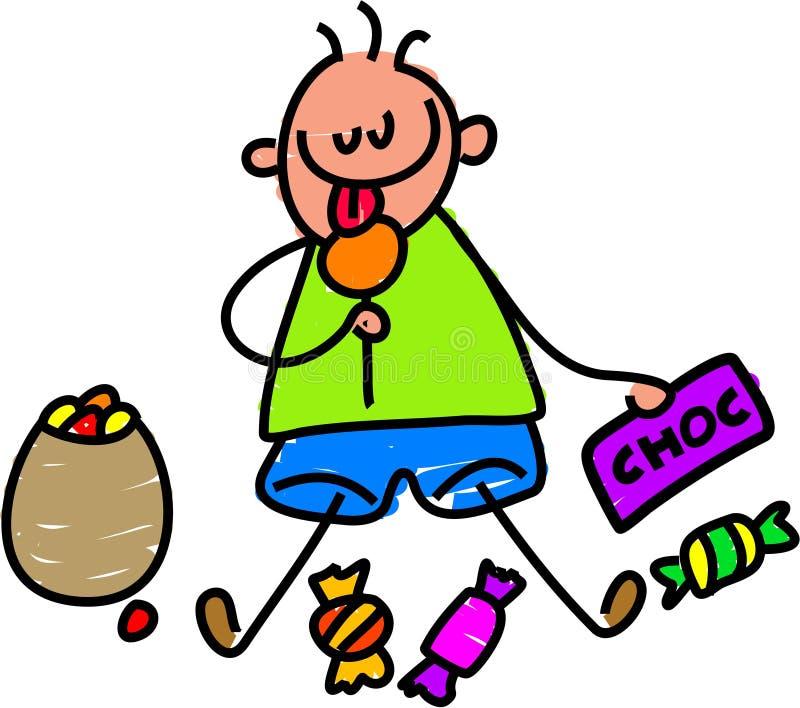 малыш конфеты бесплатная иллюстрация