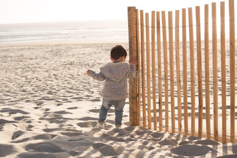 малыш пляжа стоковая фотография rf