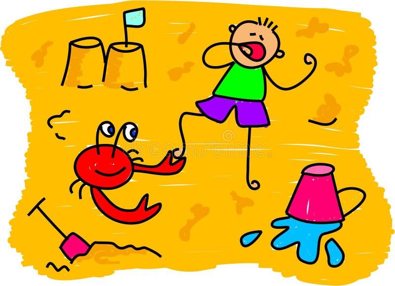 малыш пляжа бесплатная иллюстрация