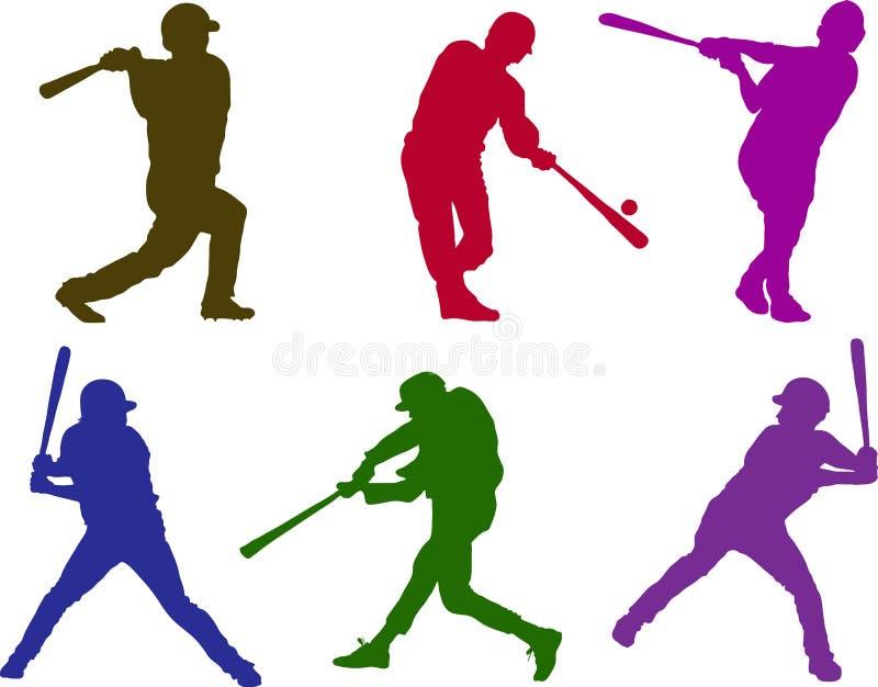 мальчики бейсбола иллюстрация вектора