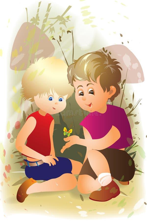 мальчики бесплатная иллюстрация