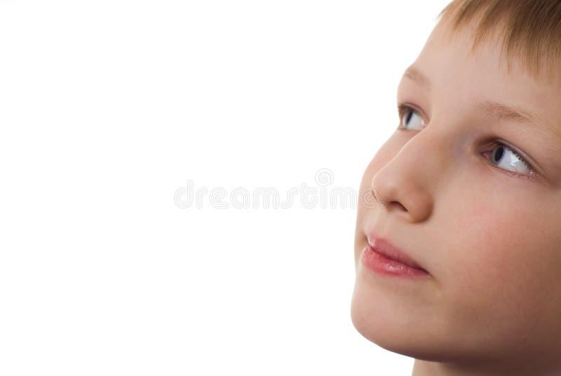 Мальчик в голубой рубашке стоковые изображения rf