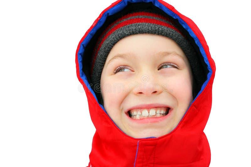 Мальчик в зиме стоковое фото rf