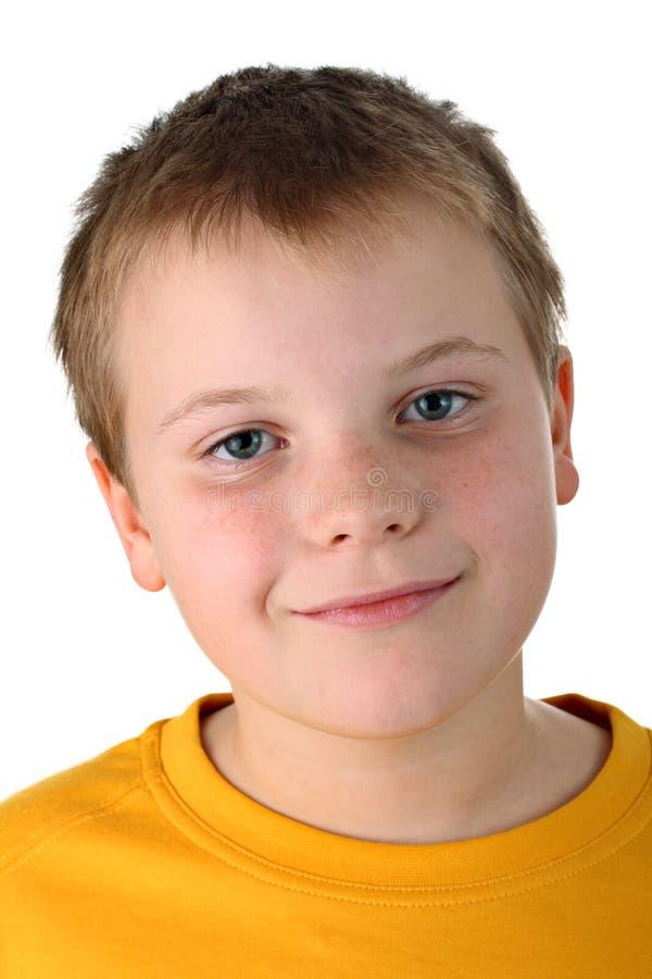 мальчик изолировал верхний белый желтый цвет года старые 10 стоковые изображения rf
