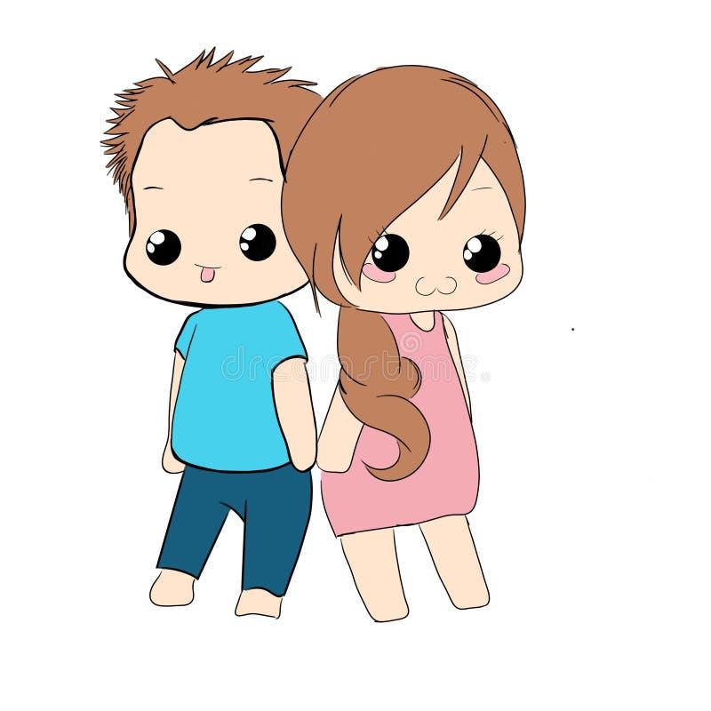 Мальчик и девушка пар счастливые стоковые изображения