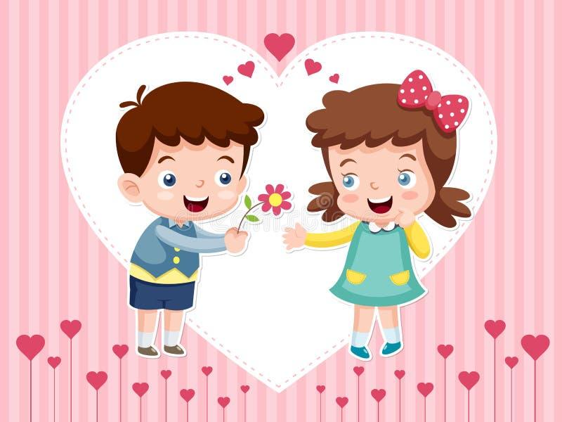 Мальчик и девушка шаржа бесплатная иллюстрация