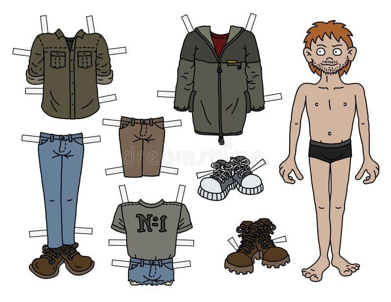Мальчик куклы бумаги redhead бесплатная иллюстрация