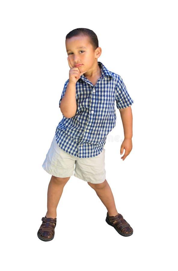 мальчик немногая представляя стоковые фотографии rf