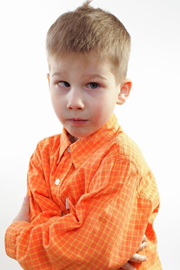мальчик немногая серьезное стоковые фото