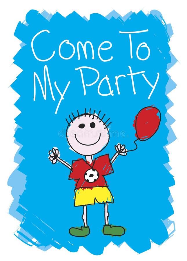 мальчик приходит моя партия к бесплатная иллюстрация