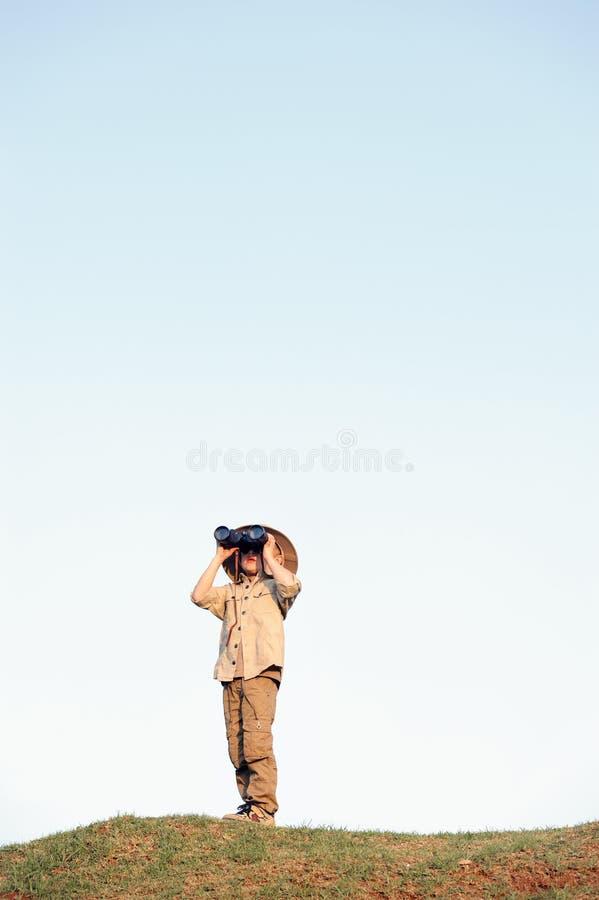 Мальчик сафари стоковая фотография