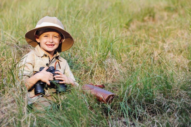 Мальчик сафари стоковые фото