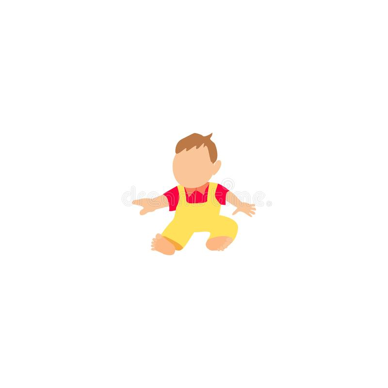 Мальчик сидит на том основании бесплатная иллюстрация