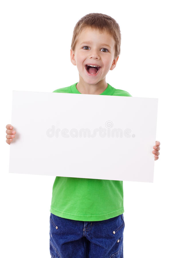 Мальчик стоя с пустым пробелом стоковое изображение