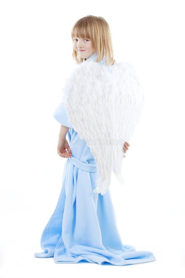 Мальчик с крылами ангела стоковая фотография rf