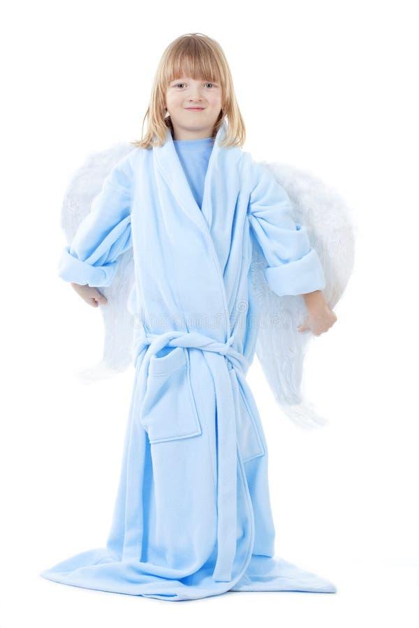 Мальчик с крылами ангела стоковые изображения rf