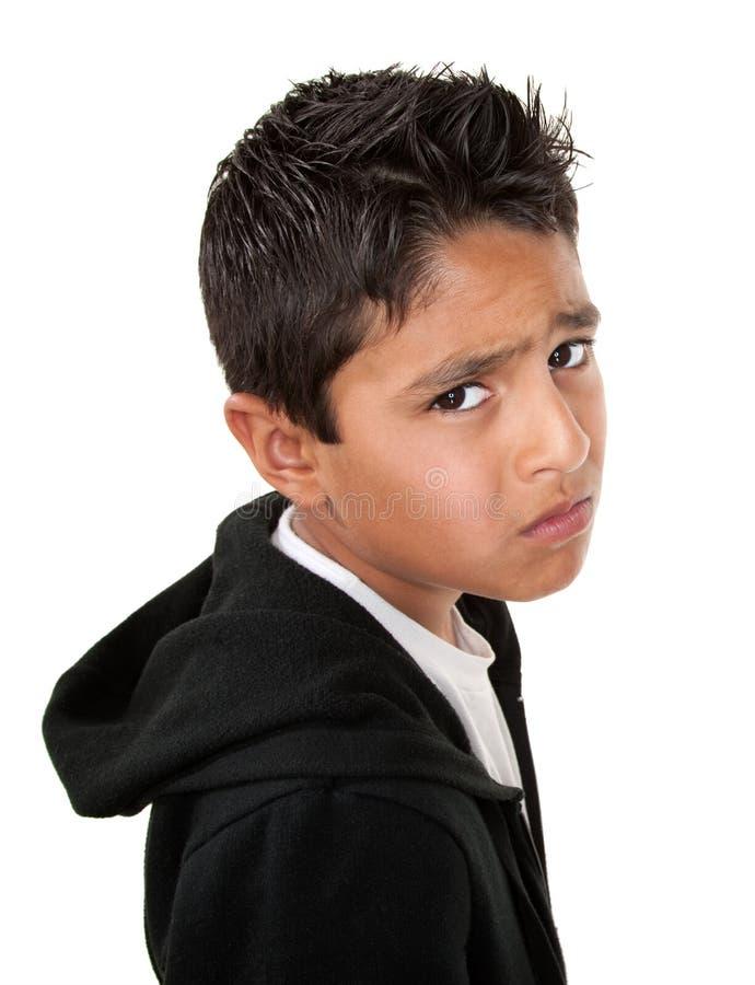 мальчик унылый очень стоковое изображение rf