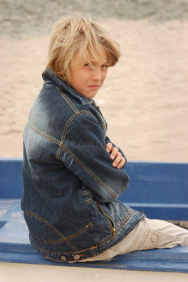 мальчик унылый стоковое фото rf
