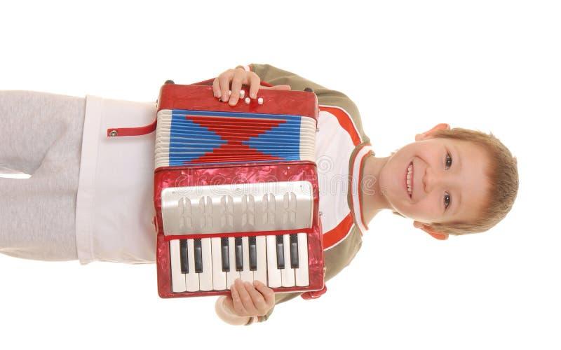 мальчик 14 аккордеонй стоковые фотографии rf